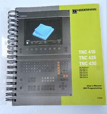 Heidenhain Tnc410 Tnc426 Tnc430 Iso Programming Manual 22000 G Code Book