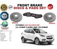 FOR HYUNDAI iX35 2.0 CRDi 4WD 4x4 2010-ON FRONT BRAKE DISCS SET + brake PADS KIT