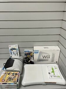 Nintendo Wii 8GB White Console With Wii Fit Board Games And Accessories Bundle