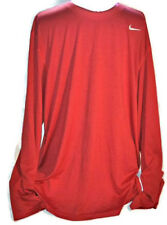 NIKE DRI FIT Active Long Sleeve Shirt XXL Mens Red Workout Training Base Top