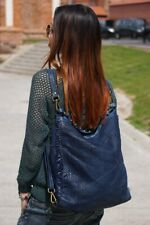 Convertible shoulder hobo bag - blue