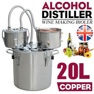 5 Gal 3 Pot 20L Moonshine Still Spirits Kit Water Alcohol Distiller Home Brewing