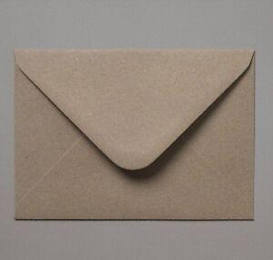 C6/A6 114x162mm Brown Recycled Fleck Kraft Envelopes 110gsm Free UK P&P