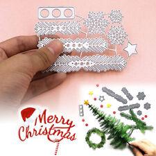 1SET Metal Christmas Tree Wreath Cutting Dies Stencil Scrapbook DIY Paper Craft