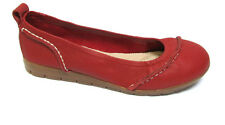 sz 8 / 39 TS TAKING SHAPE Suzanne Leather Ballet Flats comfy red shoes NIB!