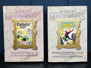 MARVEL MASTERWORKS Vol 1 Spiderman Amazing Spider-Man & Vol 2 The Fantastic Four