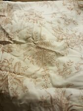 Shower Curtain-Brown Floral Toile Pattern-Cotton-FREE SHIPPING!