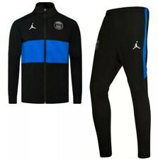 Youth Nike Paris Saint Germain Tracksuit Black/Blue XS