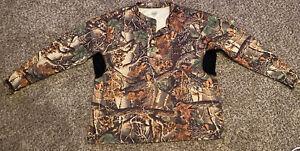 CABELAS SECLUSION 3D Camo Men's Long Sleeve Henley 3button Shirt Size 2XL EUC