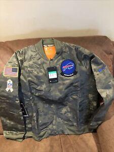 nike buffalo bills camo salute to service NFL jacket NWT size XL women