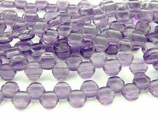 30x Czech Perline A NIDO D'APE 6 mm esagonale 2 FORI TANZANITE trasparente