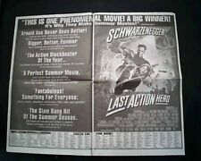 Best LAST ACTION HERO Movie Opening Day AD & Review 1993 Los Angeles Newspaper