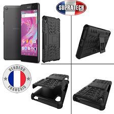 Coque Protection Noir Rigide Renforcé Anti-Choc avec Pied pour Sony Xperia E5