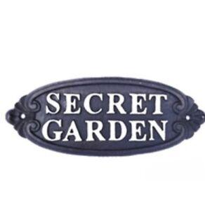 Secret Garden Cast Iron Wall Plaque Fairy Garden Or Home Decor Quality