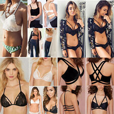 Sexy Women's Cut-Out Bustier Bralette Corset Bra Strappy Crop Tank Top Blouse