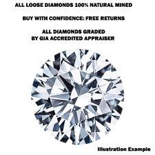 Natural Mined 3.05mm Loose Round Brilliant Cut Diamond 0.101 ct. Color F SI2