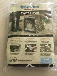 """New Pet Crate Cover Quiet Time Defender Sz Small 24""""Lx18""""Wx19""""H Teflon Protected"""