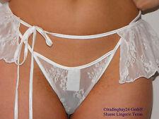Slip String G-string & micromini pantalocito punta Weiss o/s transparente