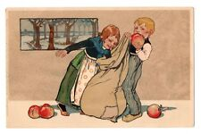 Meissner & Buch children with Christmas apples  Art Nouveau  A0583