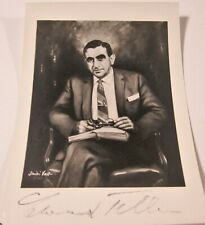 EDWARD TELLER (Father of the Hydrogen Bomb) Signed Autographed Vintage Photo CoA