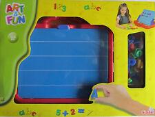 Magnettafel Koffer * Buchstaben + Zahlen * 100 Teile * Lernen * Simba * Neu*OVP
