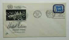 1951 FDC United Nations First Day of Issue New York Postmark Artcraft 15c Flag