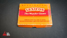 Waddingtons Lexicon the wonder game Vintage Card game from 1960's Complete