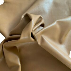Buy Dark Sand Leather Hides Lambskin Project Upholstery Crafting DIY Fabric 672