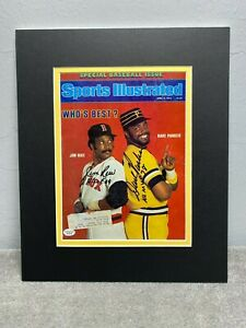 Jim Rice & Dave Parker Auto'ed Sports Illustrated Double Matted w Inscpt