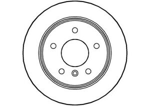 2x Brake Discs Pair Solid fits MERCEDES A190 W168 1.9 Rear 99 to 04 M166.990 Set