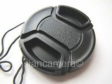 Front Lens Cap For Nikon Coolpix P520 P-520 + Cap Keeper Snap-on Glass Cover New
