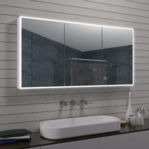 Aluminiuim LED Beleuchtung Badezimmer Bad Wand Kosmetik spiegel schrank 140 x 70
