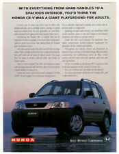 1997 HONDA CR-V Vintage Original Print AD - Gray car photo Japanese model shown