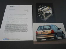 OPEL dossier de presse media press kit CORSA 1,2 L - édition 02/1998