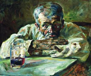 """Henri de Toulouse-Lautrec """"The Alcoholic, Father Mathias"""" alchohol drink CANVAS"""