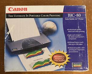 Canon BJC-80 K10156 Color Bubble Jet Portable Printer 13V