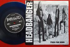"HEADBANGER FOOD FOR GUNS 1995 RARE BLUE VINYL EXYUGO 7"" PS HEAVY METAL private"