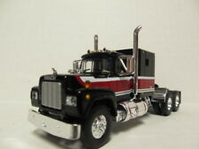 1ST GEAR 1/64 SCALE R MODEL MACK, SLEEPER CAB, RED, BLACK & WHITE  DCP SCALE
