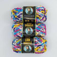 Lion Brand Boucle Sprinkles 3 Skeins 70g 57yd Per Skein