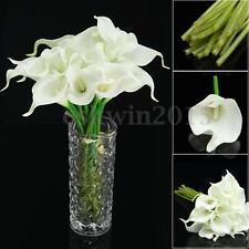 20 Heads Wedding Flower Latex Real Touch Silk Calla Lily Flower Wedding Decor