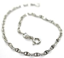 Bracelet White Gold 18K 750, Jersey Marina, Marinara, Crosspiece Criss Crossed
