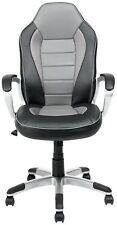 CASA stile racing inclinazione regolabile in altezza girevole Gaming Chair-Nero e Grigio