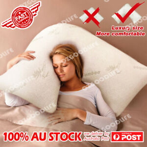 Boomerang V TRI SHAPE Shred Memory Foam Pillow With Bamboo Fabric Cover Luxury