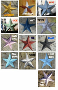 """12"""" USA Amish Made Barn Stars ~ Great Popular and Pastel colors"""