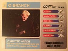 Garrotte Watch From Russia With Love #4 Q Branch 007 James Bond Spy Files Card