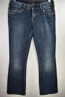 Silver Jeans Aiko Bootcut Womens Medium Wash Size 27 Stretch Blue Meas. 27x30