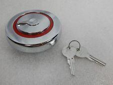 Nos Vintage Rambler 1950 1960s Project Chrome Car Gas Cap Red Ringer Keys Hotrod