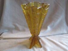 "Art Deco Amber Rocket Vase TCHECO - SLOVAQUIE 10"" in Height"