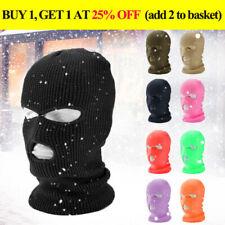 3 Hole Full Face Ski Mask Winter Cap Balaclava Hood Beanie Warm Tactical Hat New