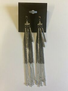 ASOS Silver Chain Drop Earrings - Brand New Without Tags